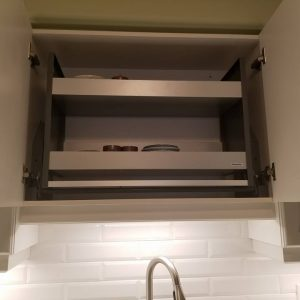 Two tone kitchen with Panasonic pull down 2