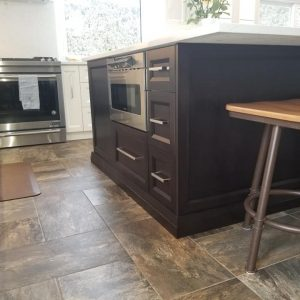 White Dove kitchen with Dark Espresso island 3
