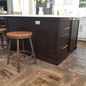 White Dove kitchen with Dark Espresso island 8